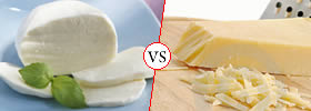 Mozzarella Cheese vs Parmesan Cheese