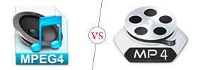 MPEG4 vs MP4