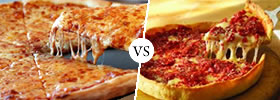 New York Pizza vs Chicago Pizza