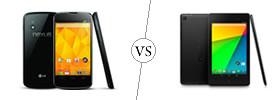 Nexus 4 vs Nexus 7
