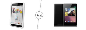 Nook HD vs Nexus 7
