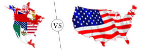 North America vs USA