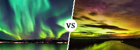 Northern Lights vs Southern Lights