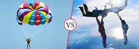 Parachuting vs Skydiving
