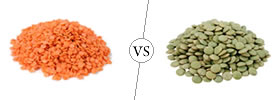 Red vs Green Lentils