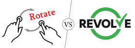 Rotate vs Revolve