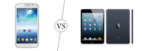 Samsung Galaxy Mega 5.8 vs iPad Mini