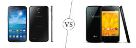 Samsung Galaxy Mega 6.3 vs Nexus 4
