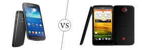 Samsung Galaxy S4 Active vs HTC One X+