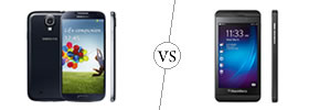 Samsung Galaxy S4 vs Blackberry Z10