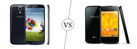 Samsung Galaxy S4 vs Nexus 4
