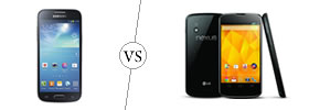 Samsung Galaxy S4 Mini vs Nexus 4