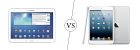 Samsung Galaxy Tab 3 10.1 vs iPad
