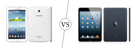 Samsung Galaxy Tab 3 7.0 vs iPad Mini