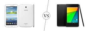 Samsung Galaxy Tab 3 7.0 vs Nexus 7