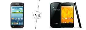 Samsung Galaxy Win vs Nexus 4