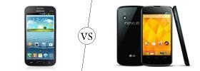 Samsung Galaxy Win vs Nexus 4