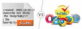 SGML vs HTML