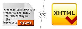 SGML vs XHTML