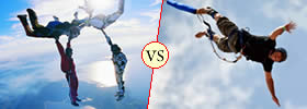 Skydiving vs Bungee Jumping