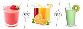 Smoothie vs Juice vs Shake