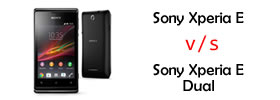 Sony Xperia E vs Sony Xperia E Dual