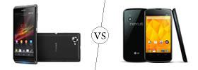 Sony Xperia L vs Nexus 4