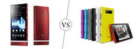 Sony Xperia P vs Nokia Lumia 820