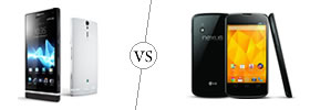 Sony Xperia S vs Nexus 4
