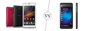 Sony Xperia SP vs Blackberry Z10