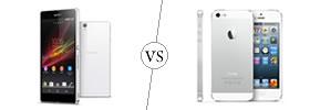 Sony Xperia Z vs iPhone 5