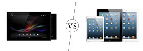 Sony Xperia Z Tab vs iPad