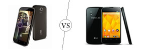 Spice Stellar Pinnacle Pro vs Nexus 4