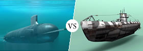 Submarine vs U-boat