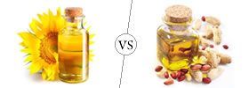 Sunflower Oil vs Groundnut Oil.