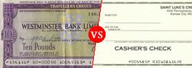Traveller's Check vs Cashier's Check