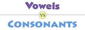 Vowels vs Consonants
