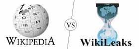 Wikipedia vs WikiLeaks