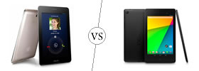 Asus FonePad vs Nexus 7