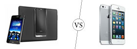 Asus PadFone Infinity vs iPhone 5