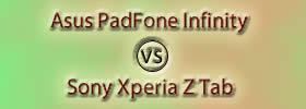 Asus PadFone Infinity vs Sony Xperia Z Tab