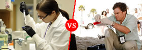 Forensic Scientist vs Criminalist