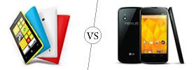Nokia Lumia 520 vs LG Nexus 4