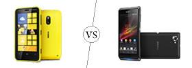 Nokia Lumia 620 vs Sony Xperia L