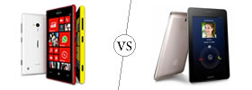 Nokia Lumia 720 vs Asus FonePad