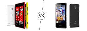 Nokia Lumia 720 vs Sony Xperia T