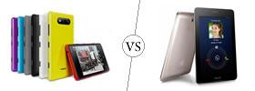 Nokia Lumia 820 vs Asus FonePad