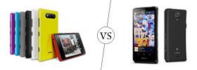 Nokia Lumia 820 vs Sony Xperia T