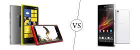 Nokia Lumia 920 vs Sony Xperia Z