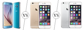 Samsung Galaxy S6 vs iPhone 6 vs iPhone 6 Plus